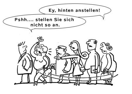 anstellen-meaning-german