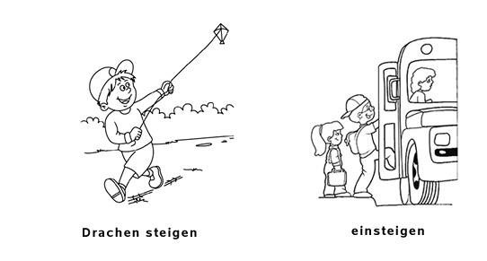 steigen-meaning-german